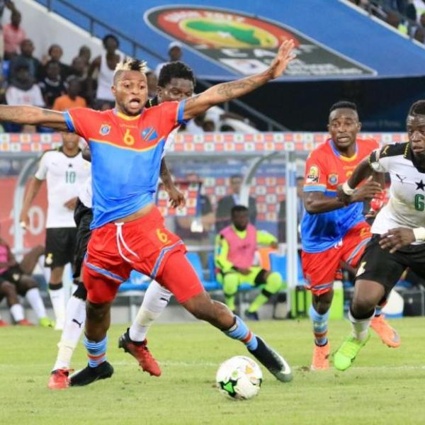 Une photo illustrative du match RDC-Ghana lors de la CAN 2017